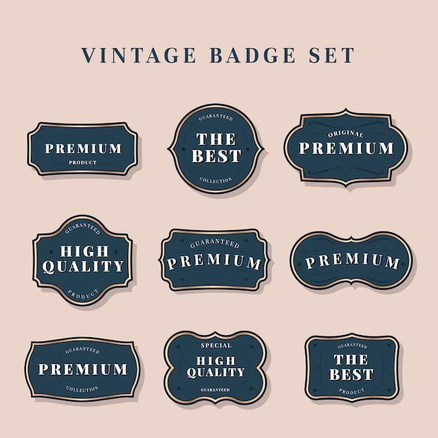 Collezione di etichette vintage Vettore gratuito