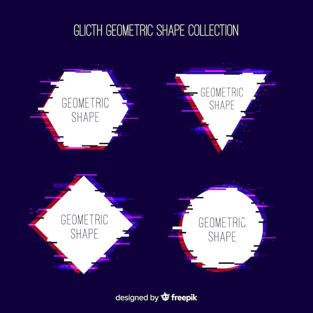 Collezione di forme geometriche glitch Vettore gratuito