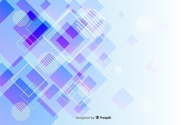 Collezione di forme geometriche sullo sfondo Vettore gratuito