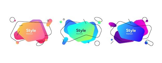 Collezione di forme liquide fluide multicolori Vettore gratuito