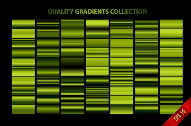 Collezione di gradienti di qualità moderna Vettore Premium