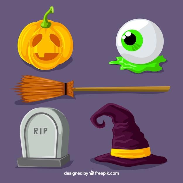 Collezione di halloween con stile moderno Vettore gratuito