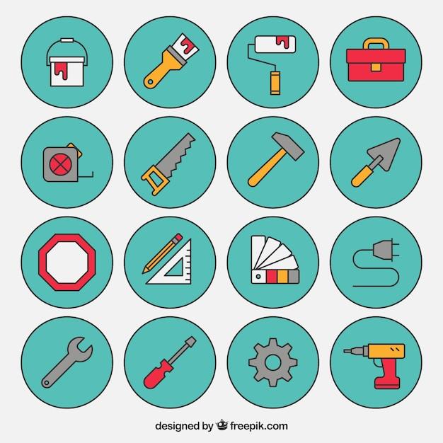 Collezione di icone di costruzione scaricare vettori gratis for Software di costruzione gratuito