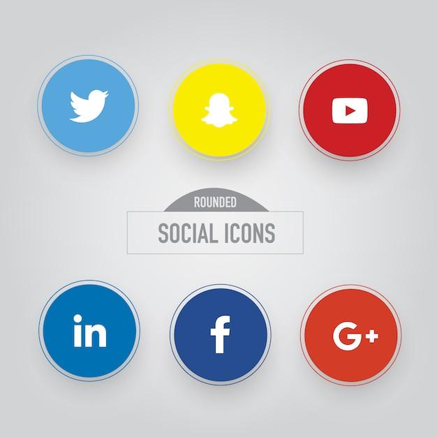 Collezione di icone sociali Vettore gratuito