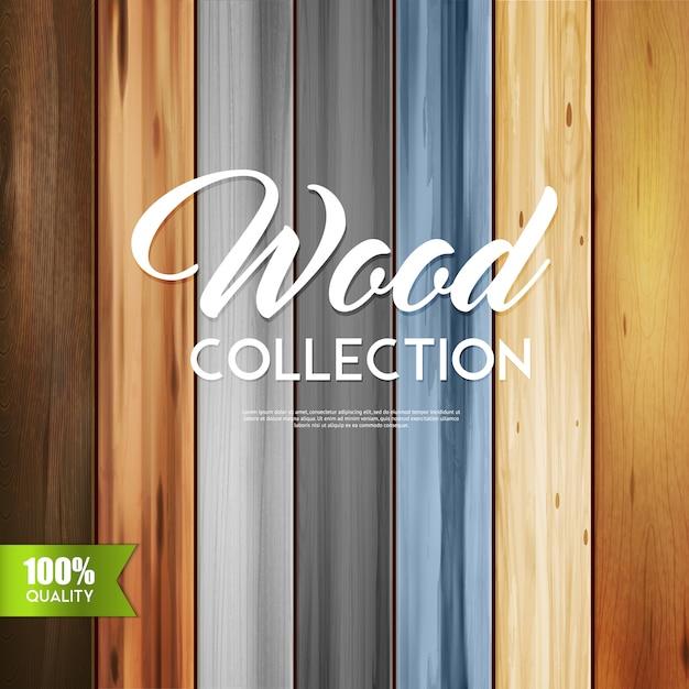 Collezione di legno ornamentale Vettore gratuito