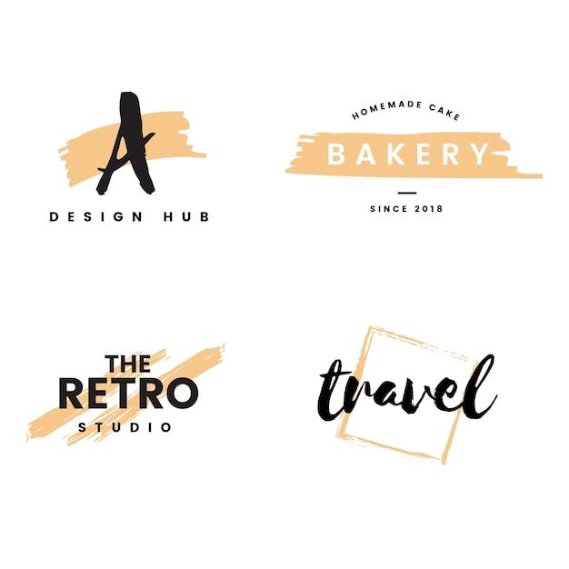 Collezione di loghi e branding vettoriale Vettore gratuito