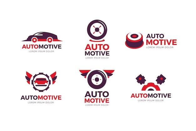 Collezione di logo auto design piatto Vettore gratuito