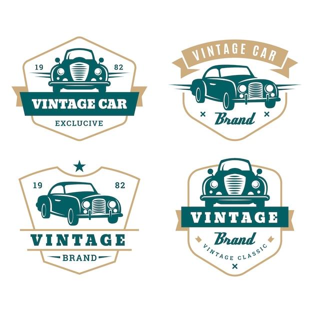 Collezione di logo auto stile vintage Vettore gratuito