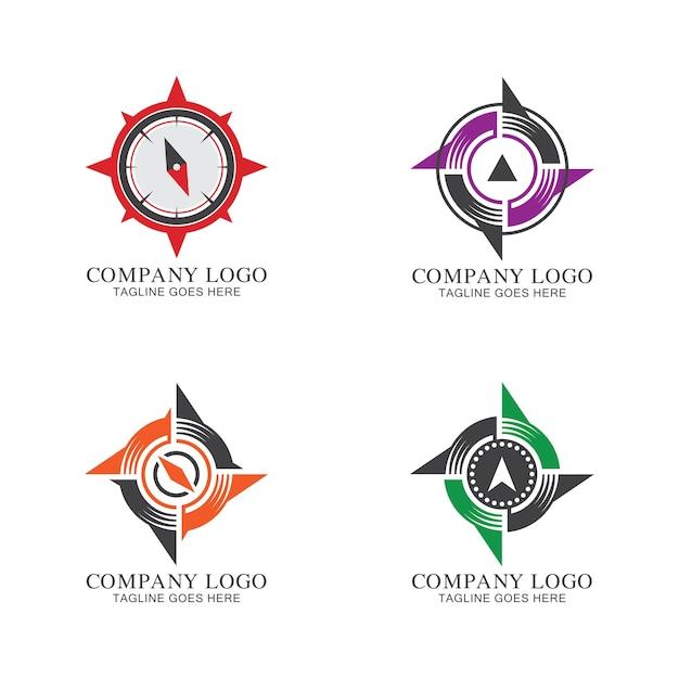 Collezione di logo compass Vettore Premium