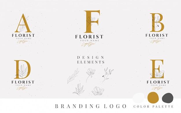 Collezione di logo di vettore di stile minimalismo. Vettore Premium