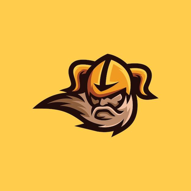 Collezione di logo viking Vettore Premium