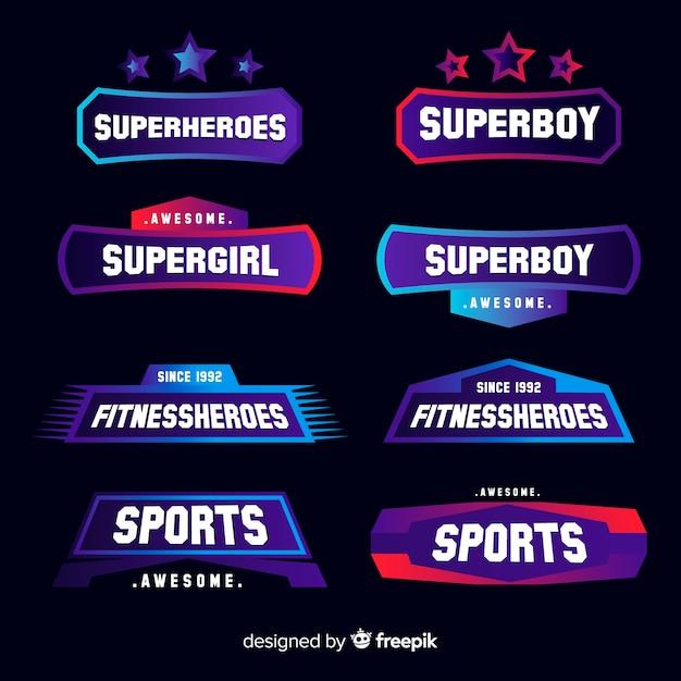 Collezione di logotipi sportivi moderni Vettore gratuito