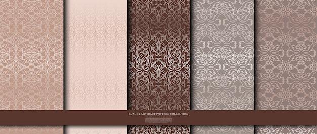 Collezione di lusso arabesque Vettore Premium