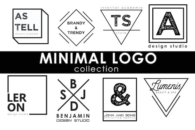 Collezione di modelli di logo minimale Vettore Premium