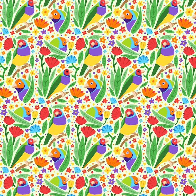 Collezione di modelli primavera disegnati a mano Vettore gratuito