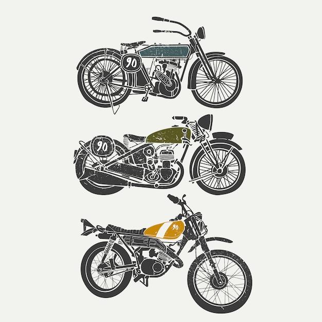 Collezione di motocicletta Vettore gratuito