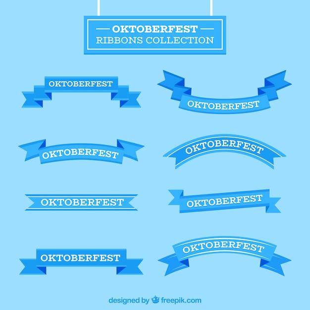 Collezione di nastri oktoberfest in design piatto Vettore gratuito