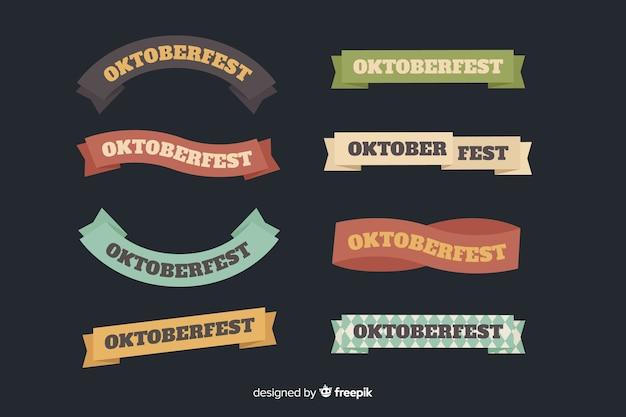 Collezione di nastro piatto oktoberfest Vettore gratuito