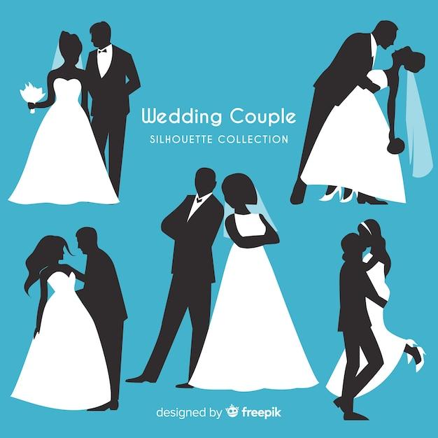 Collezione di personaggi delle coppie di sposi Vettore gratuito