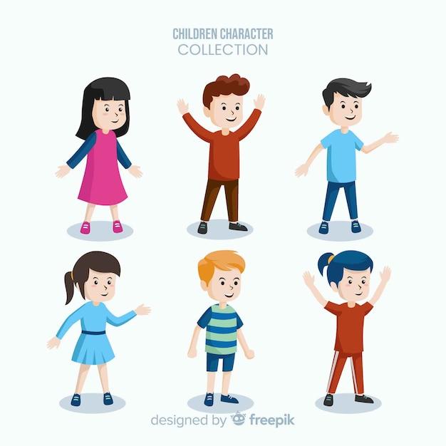 Collezione di personaggi di chldren's day Vettore gratuito
