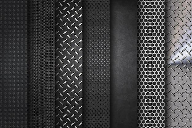 Collezione di set in acciaio Vettore Premium