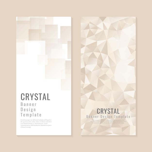 Collezione di sfondo con texture di cristallo Vettore gratuito