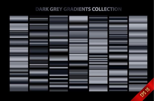 Collezione di sfumature grigio scuro Vettore Premium