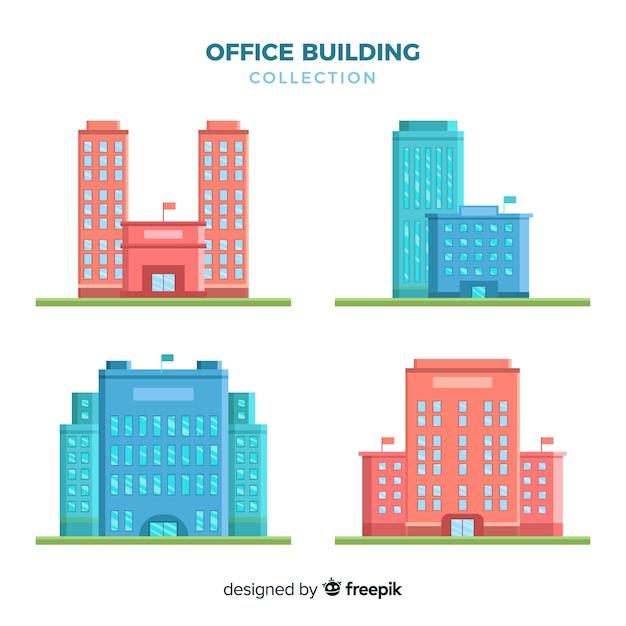 Collezione di uffici moderni con design piatto scaricare for Uffici di design