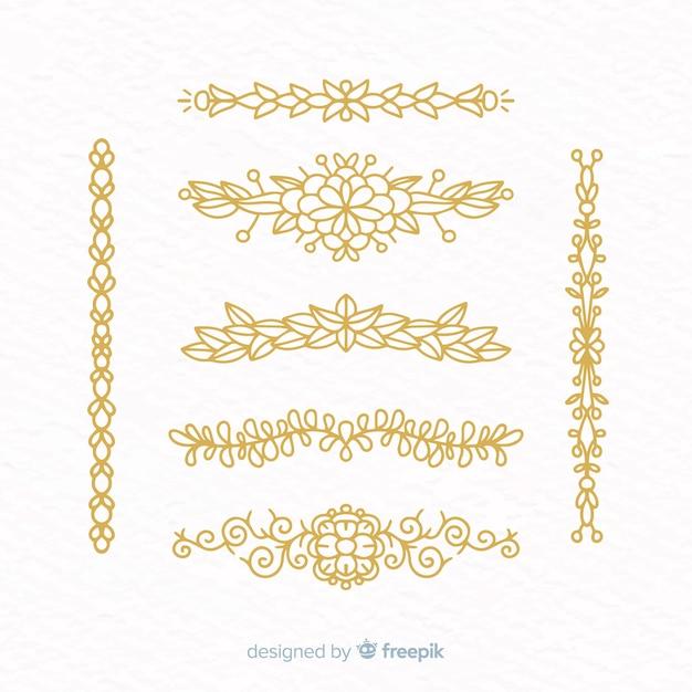 Collezione disegnata a mano divisore ornamentale Vettore gratuito