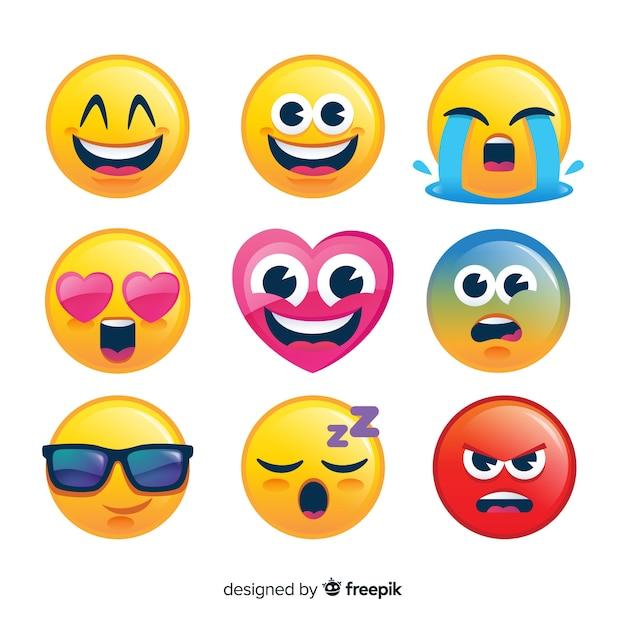 Collezione emoji Vettore gratuito