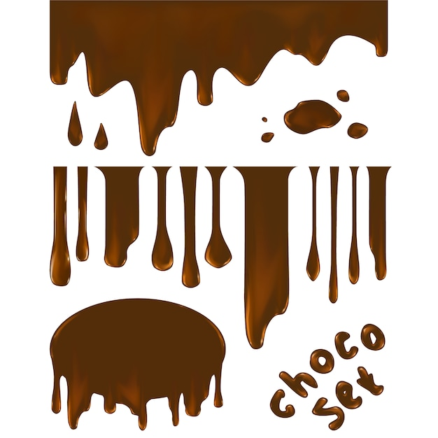Collezione forma di cioccolato Vettore gratuito