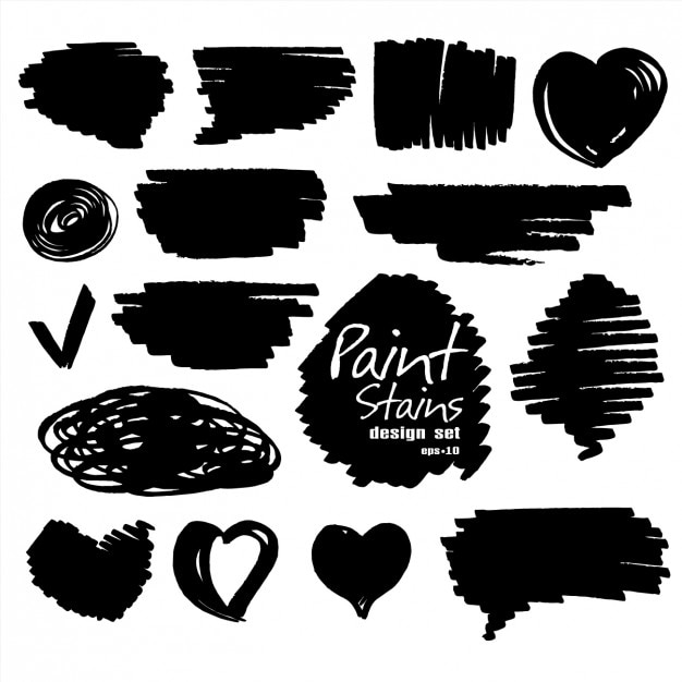 Collezione forma doodle Vettore gratuito