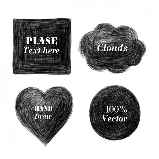 Collezione forma scribble Vettore gratuito
