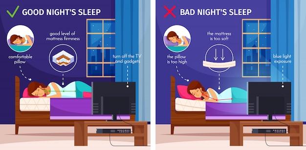 Collezione good night sleep Vettore gratuito