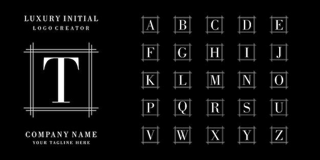 Collezione iniziale logo design Vettore Premium