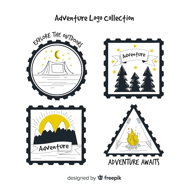 Collezione logo adventure Vettore gratuito