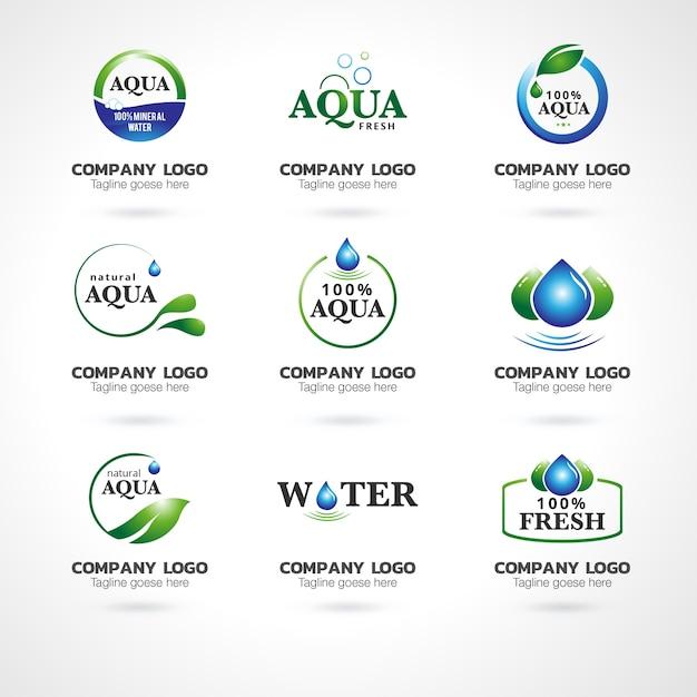 Collezione logo astratto Vettore Premium