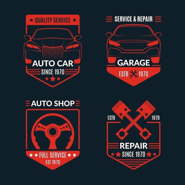 Collezione logo auto Vettore gratuito