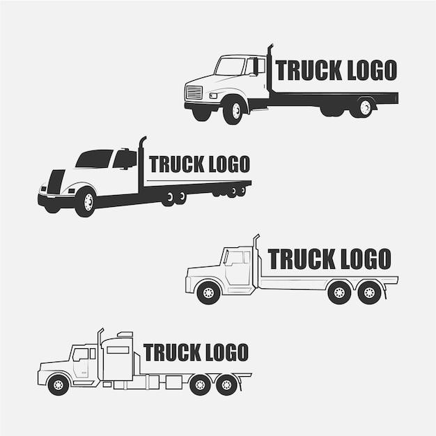 Collezione logo camion Vettore gratuito