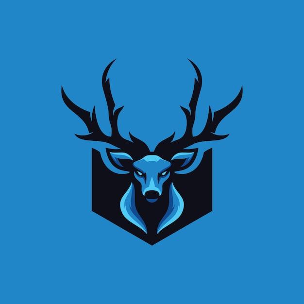 Collezione logo cervi Vettore Premium