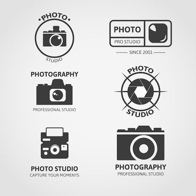 Collezione logo della fotocamera Vettore gratuito