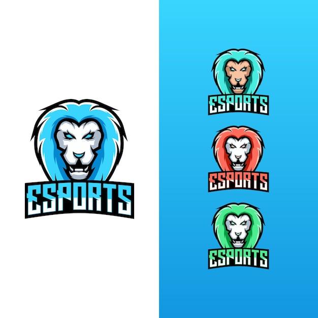 Collezione logo lion esport Vettore Premium