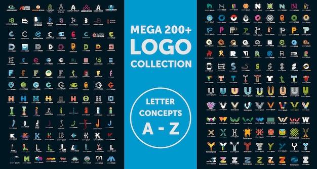 Collezione logo mega Vettore Premium