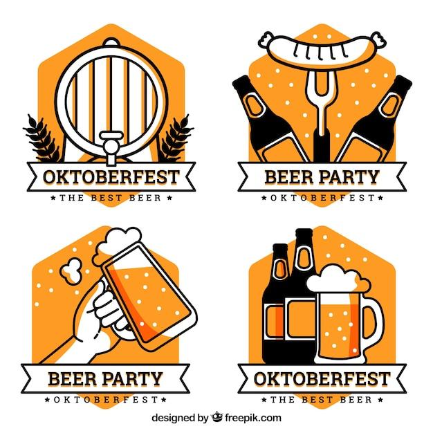 Collezione logo oktoberfest Vettore gratuito