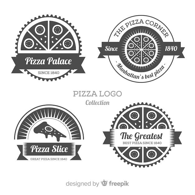 Collezione logo pizza Vettore gratuito