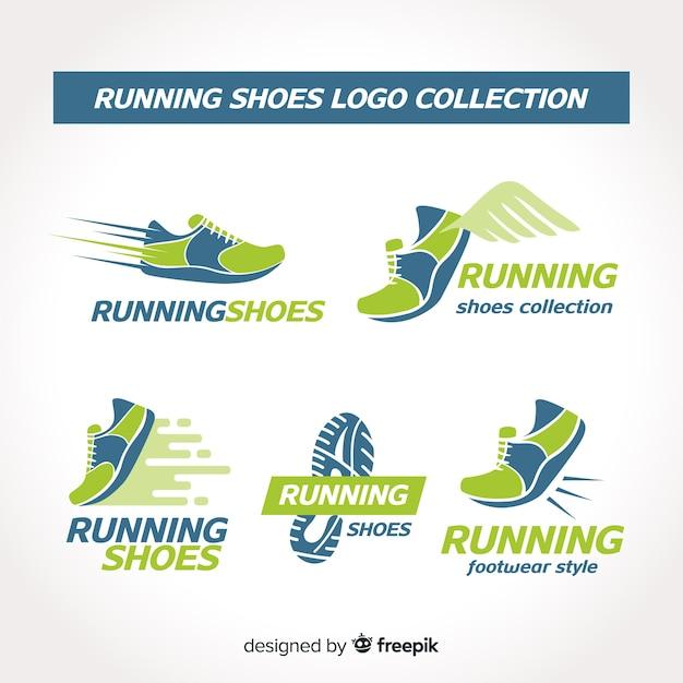 Collezione logo scarpa da running Vettore gratuito