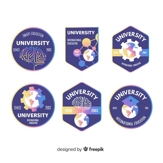 Collezione logo universitario Vettore gratuito