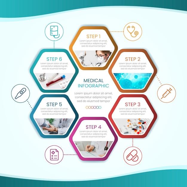 Collezione medica infografica Vettore gratuito