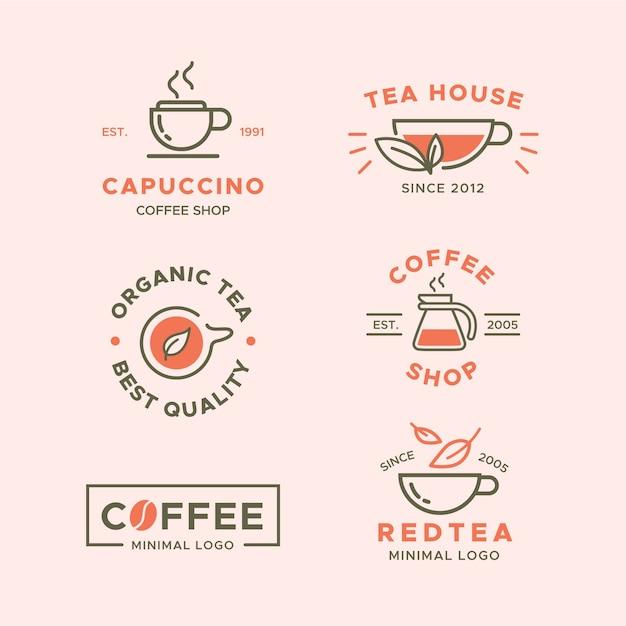 Collezione minimal logo in due colori Vettore gratuito