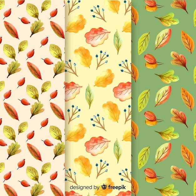 Collezione modello autunno dell'acquerello Vettore gratuito